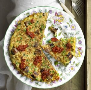 HECK Sausage and Couscous Frittata