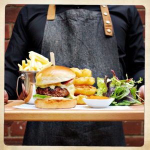 Lockwoods' Burger with Smokey Tomato Relish